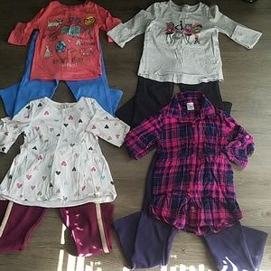 Girl's bundle of 4 complete outfits size 5T-6x